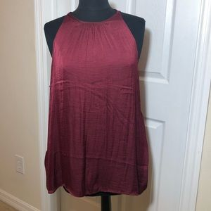 Old Navy solid dark red sleeveless blouse size XL